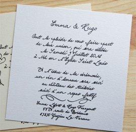 jolie plume faire part cartes et marque places manuscrits jolie plume. Black Bedroom Furniture Sets. Home Design Ideas
